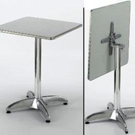 Restaurant Table Aluminum Flip Down Square X Seating Depot - 24 x 24 restaurant table