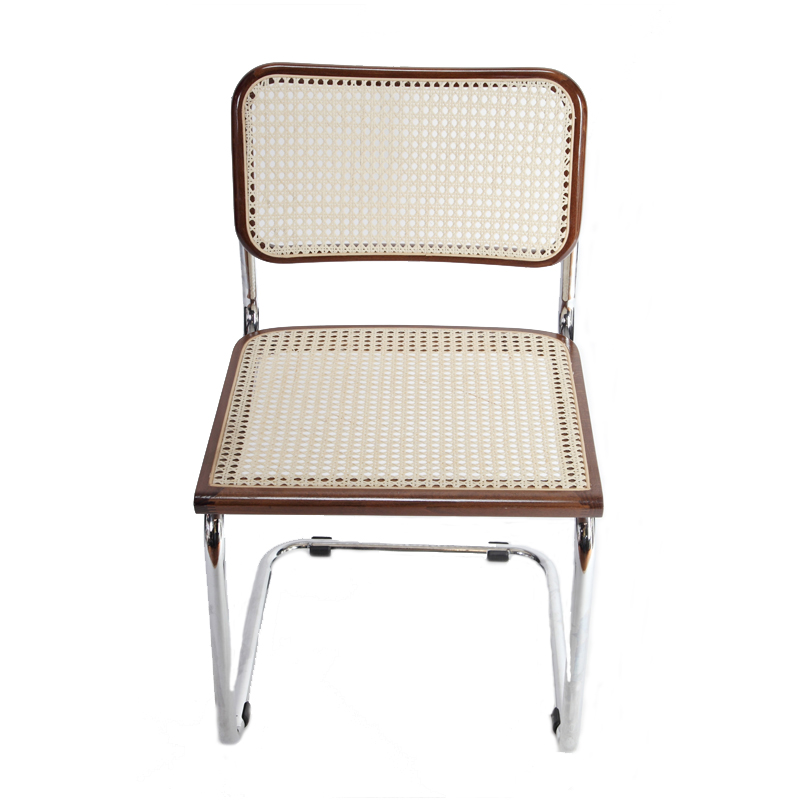 Breuer Metal Chair With Cane Seat And Back