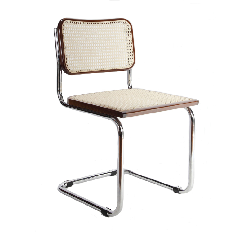 Breuer Metal Chair With Cane Seat And